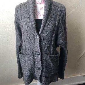 American Eagle Oversized Wool Cardigan XS Grey